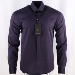 Lords&Fools Men's Cotton Navy/Burgundy Shirt